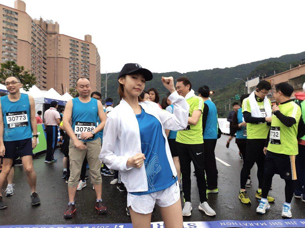 林明禎17日擔任「2019新北市萬金石國際馬拉松」活動代言人。圖/種子音樂提供