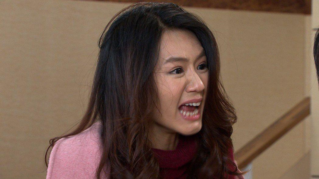 李又汝在「大時代」中演出婆媳大戰,情緒激動。圖/民視提供