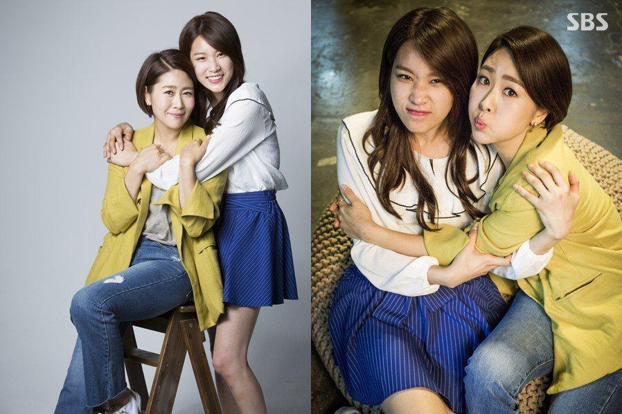 韓劇「愛情來了」戲中,金智英與女兒以姊妹相稱。圖/緯來戲劇台提供
