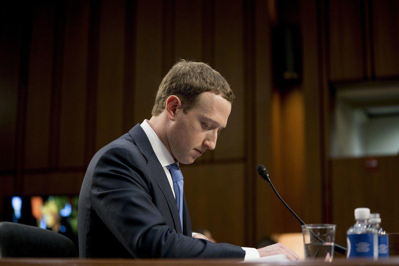 臉書執行長查克柏格去年4月在國會作證。美聯社。