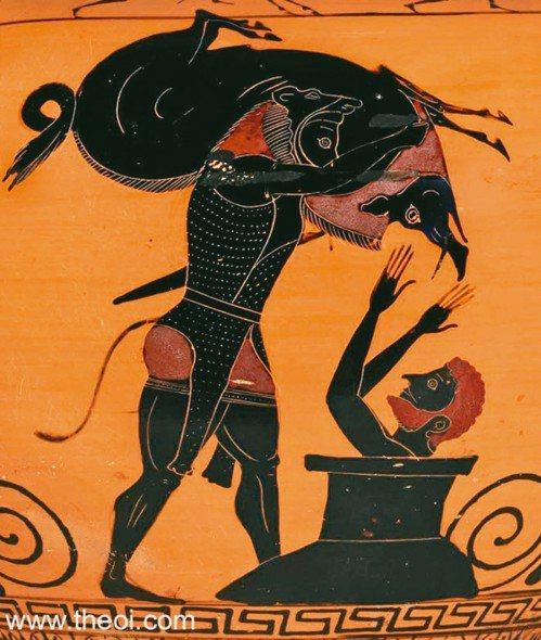 「艾瑞曼托的野豬」是古希臘陶罐上常見的題材。(圖/取自大英博物館網站:www.t...