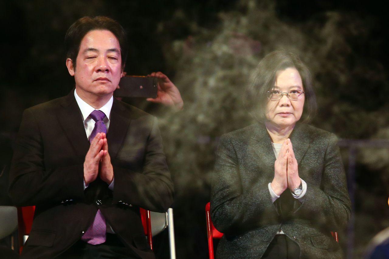 民進黨的總統提名變成蔡賴相爭。 聯合報系資料照片/記者王騰毅攝影