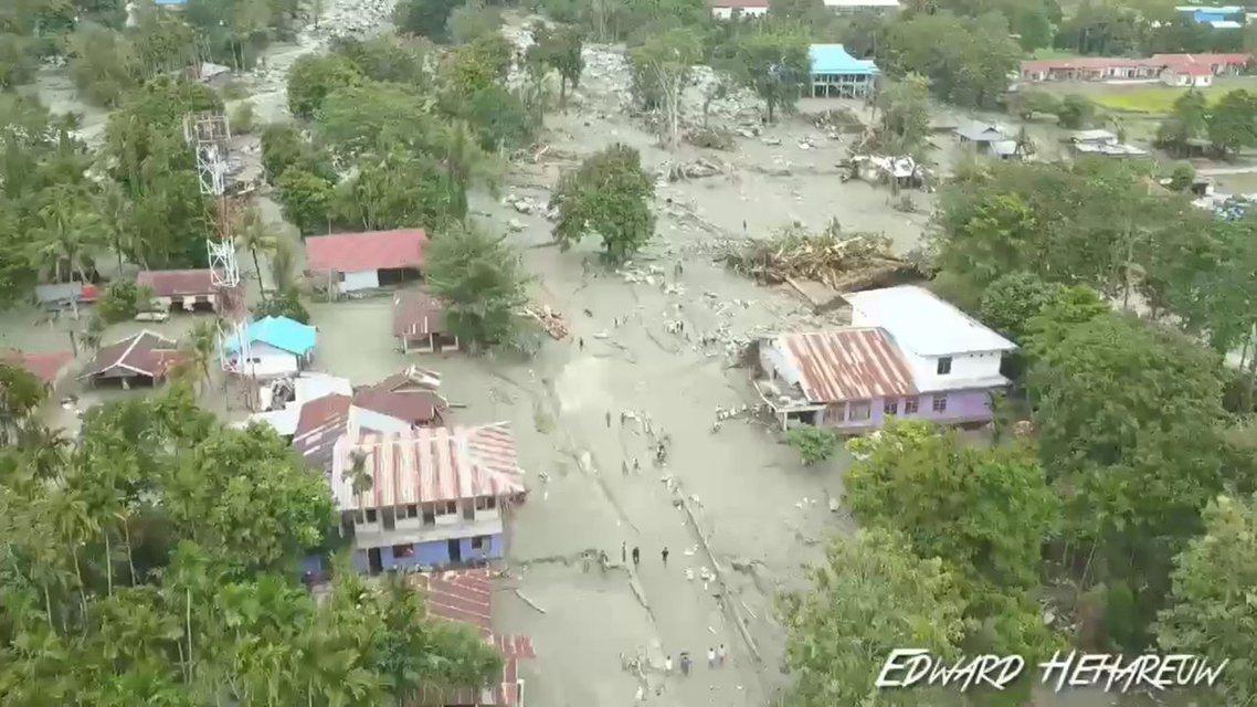 被大量泥漿侵襲的森塔尼,是這次洪災後受害最嚴重的區域。 圖/路透社