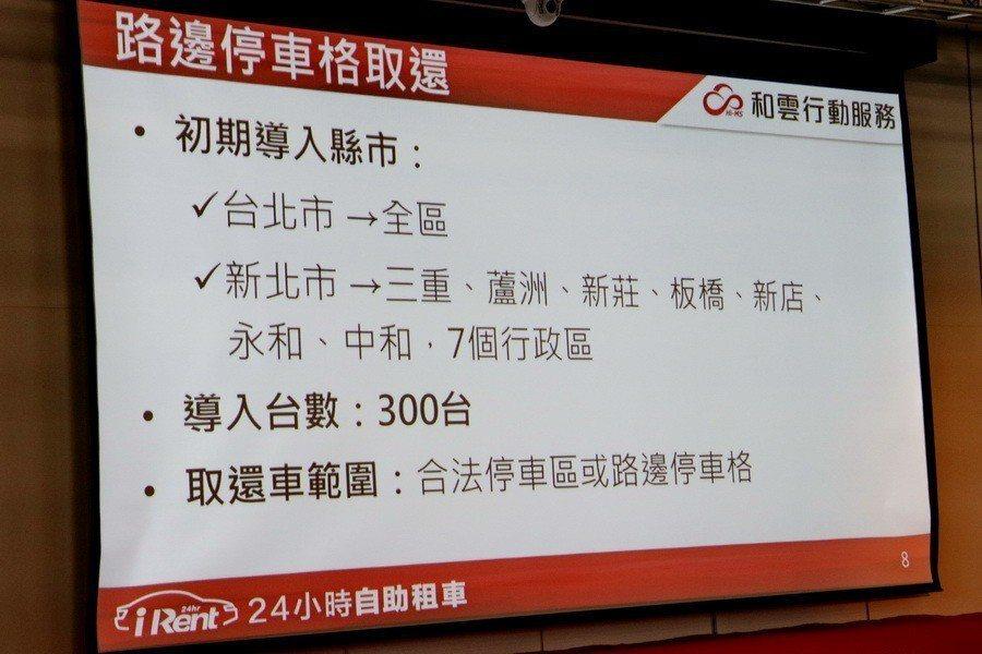 初期導入三百台,延伸範圍包含台北市及部分新北市地區。 記者陳威任/攝影