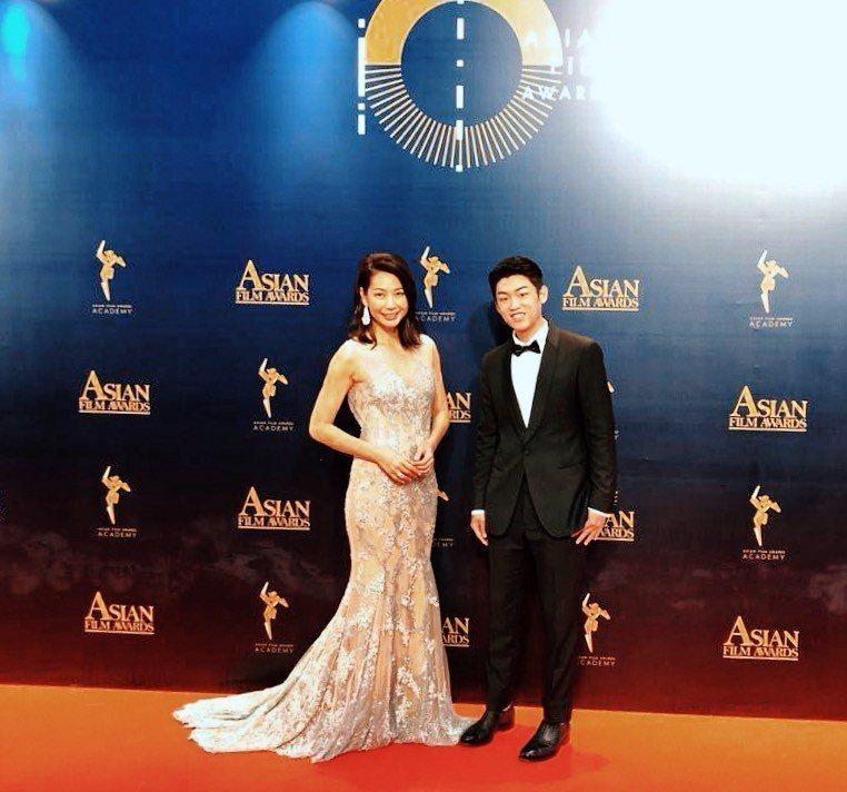 丁寧(左)和謝章穎(右)以「幸福城市」入圍「第13屆亞洲電影大獎」。圖/齊石提供
