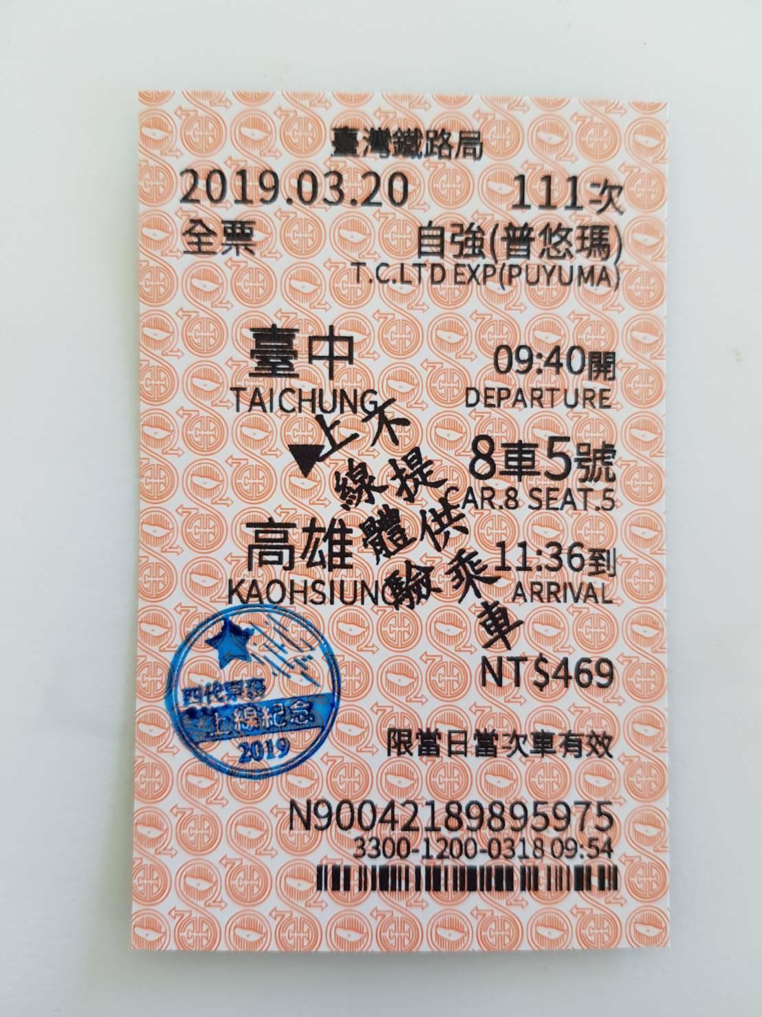 台鐵35年老車票首度大改版,4月9日起橫式變直式。圖/台鐵局提供