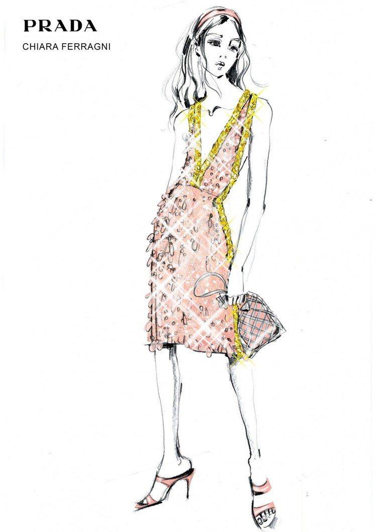 PRADA台中大遠百獨家推出的皮革編織網帶包款,是品牌去年為義大利知名時尚部落客...