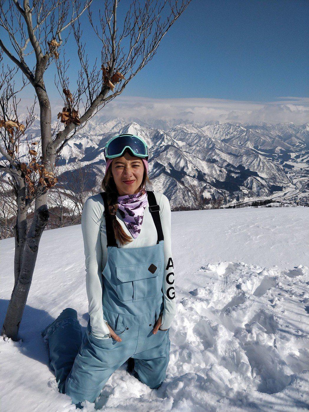 瑞瑪席丹日前告假赴日滑雪。圖/愛貝克思提供