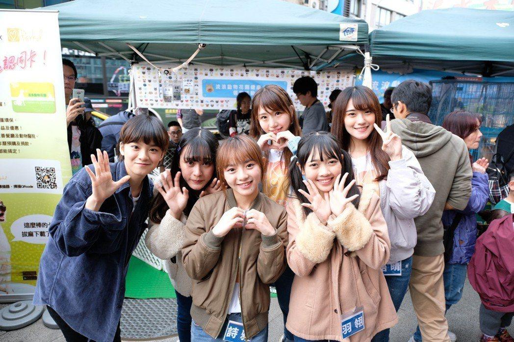 「AKB48 Team TP」出席流浪狗活動。圖/好言娛樂提供