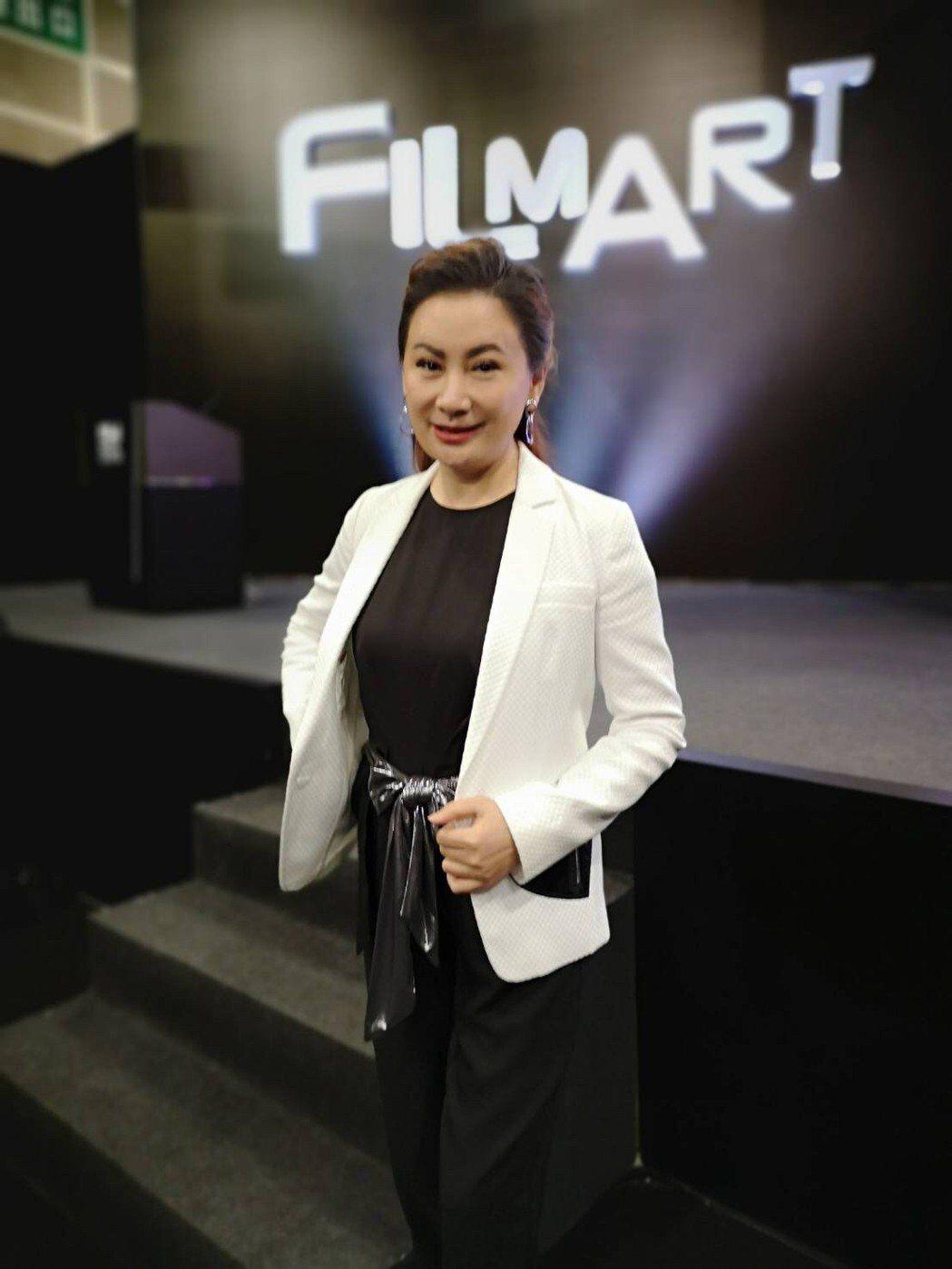 陳亞蘭出席香港影視節宣傳楊麗花歌仔戲「忠孝節義」。圖/麗生百合國際娛樂