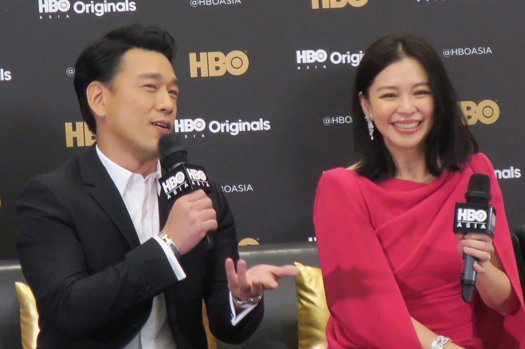 王耀慶與徐若瑄在記者會上不時互相調侃。記者蘇詠智/攝影