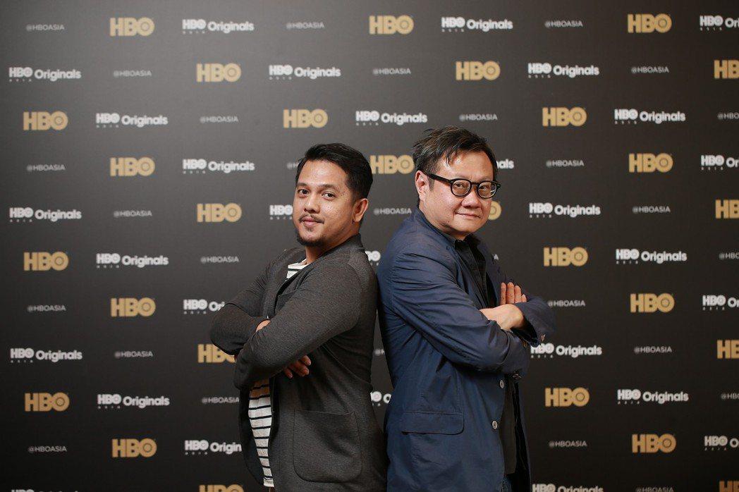 新加坡名導邱金海(右)與印尼導演比利克里斯汀合作美食影集。圖/HBO提供