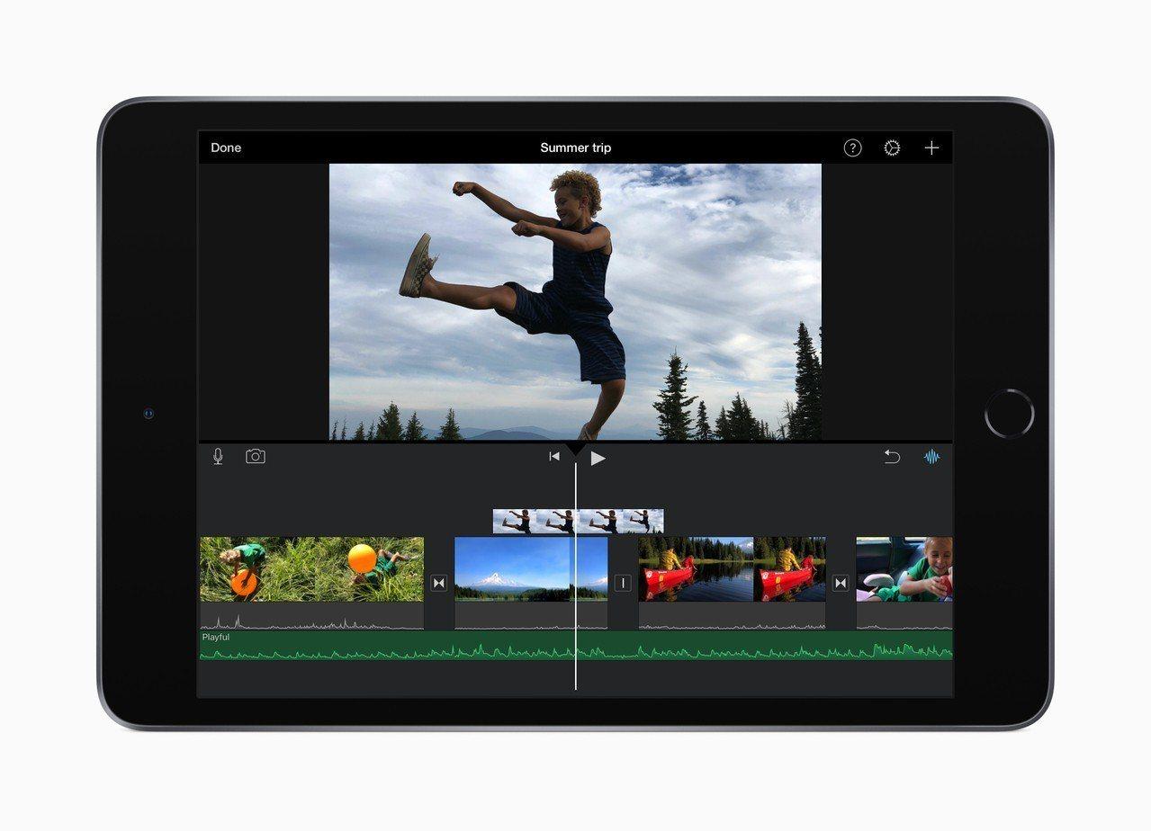 新版iPad Air與iPad mini可順暢編輯4K影片。圖/蘋果提供