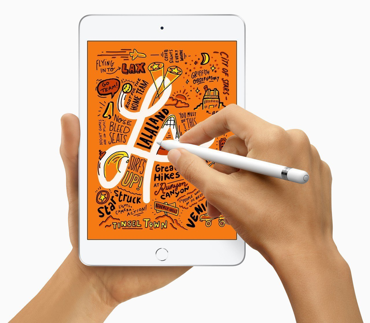 尺寸精巧的iPad mini也可支援使用上一代Apple Pencil。圖/蘋果...