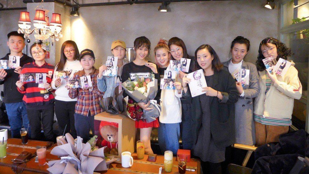 黃心娣在北京辦粉絲見面會。圖/周子娛樂提供