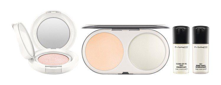 M.A.C超顯白發光底妝組:發光萬能氣墊(正貨)、超顯白粉餅(正貨含盒)、清爽淨...