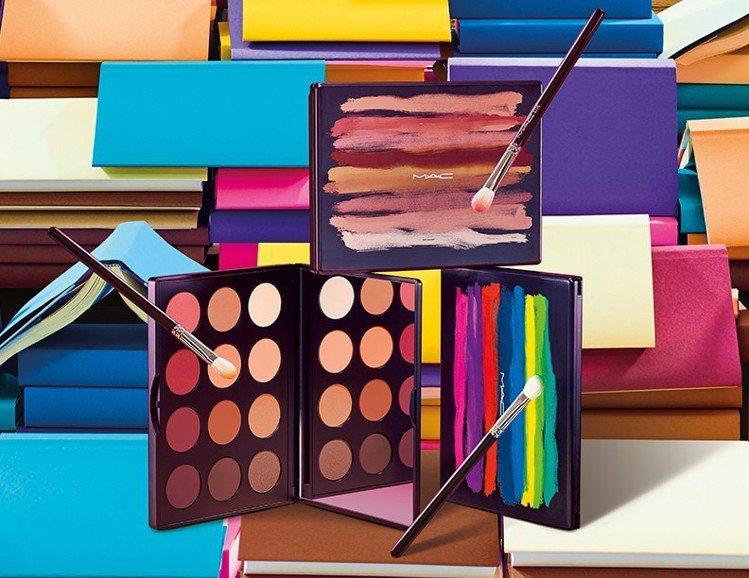 M.A.C推出時尚專業12色眼影盤。圖/M.A.C提供