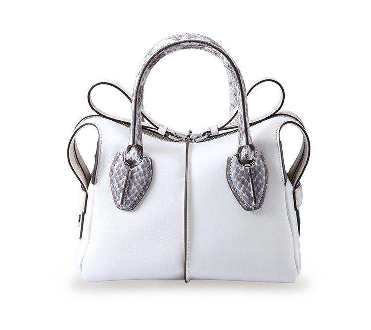 TOD'S將於「微風之夜」獨家推出這款水蛇皮D-Styling Bag。 圖/T...