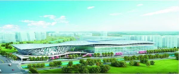 台中市水湳國際會展中心透視圖。(示意圖)