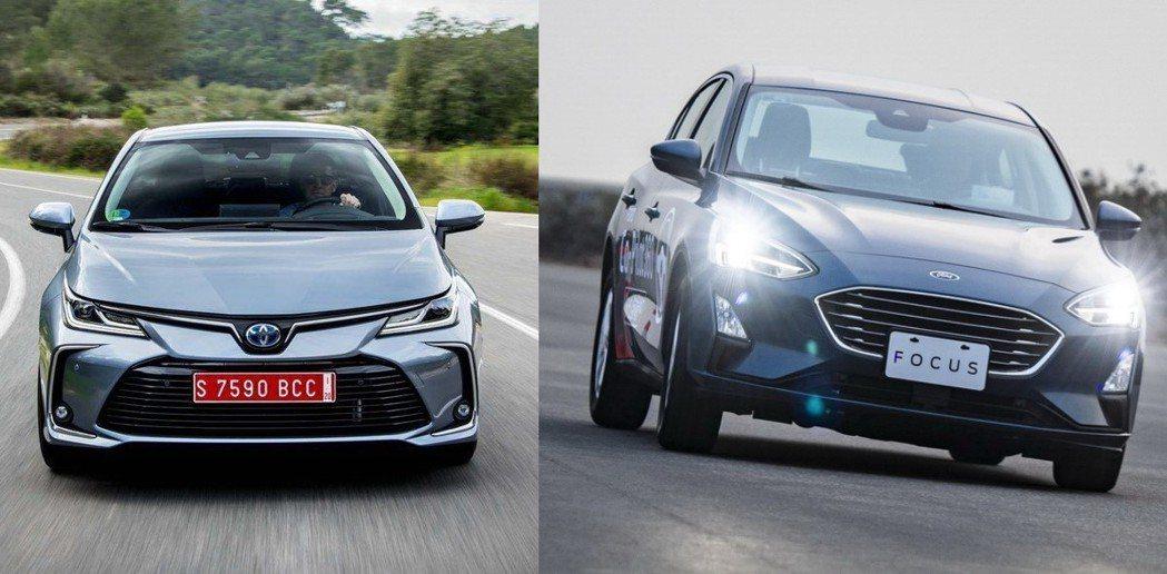 TOYOTA Corolla Altis VS Ford Focus 4D。