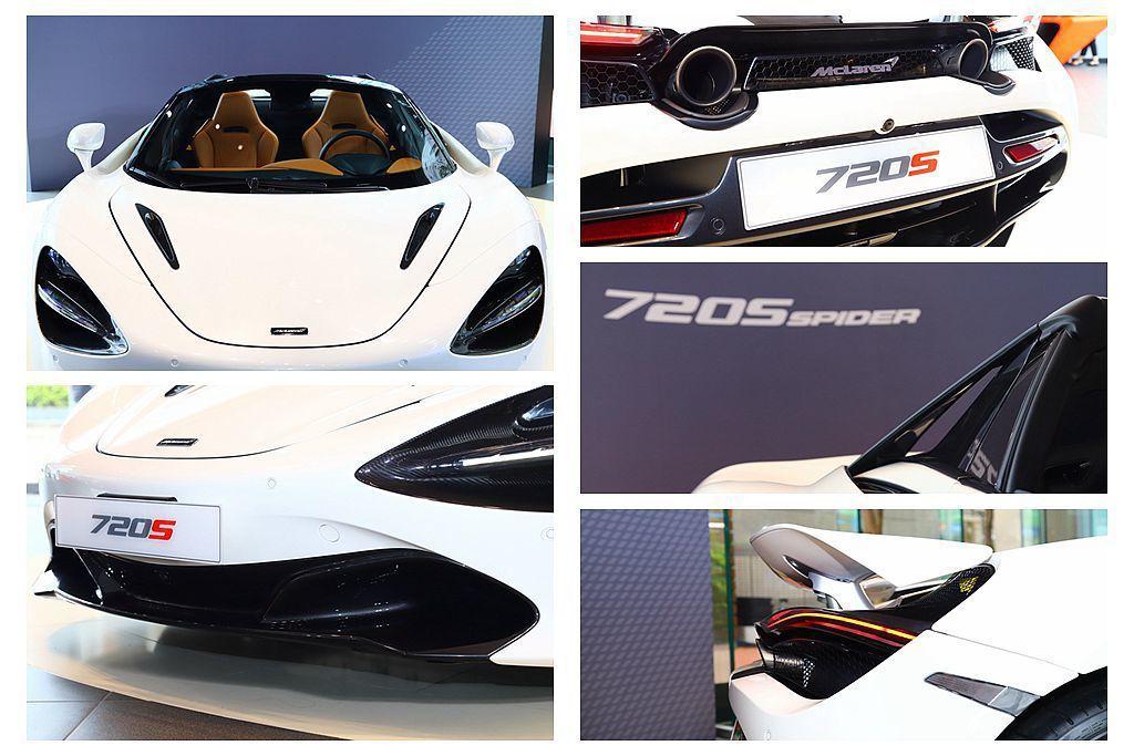 McLaren 720S Spider承襲720S Coupe優異的空氣力學設計...