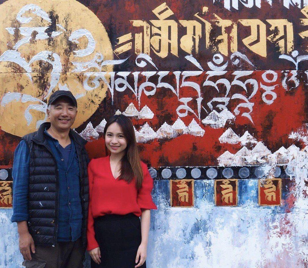 不丹當代藝術之父 Asha Kama(左)與丹之寶創辦人呂若潔(右)。 丹之寶藝...