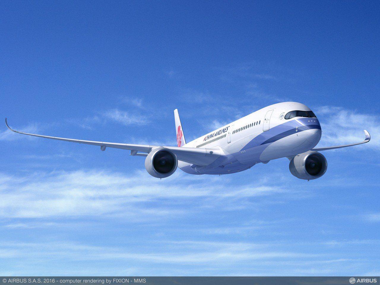 華航董事長何煖軒稱讚A350具省油優勢,使用複合材料也比競爭對手機型輕了7000...