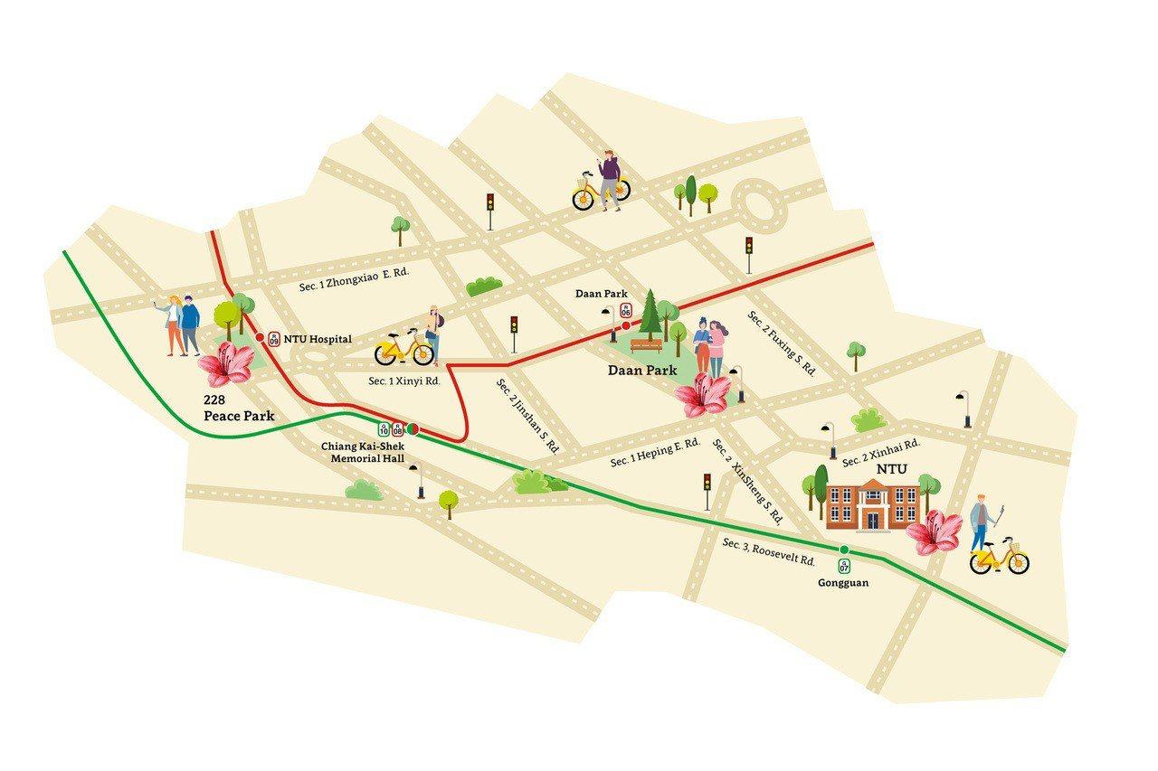 route 1: azaleas
