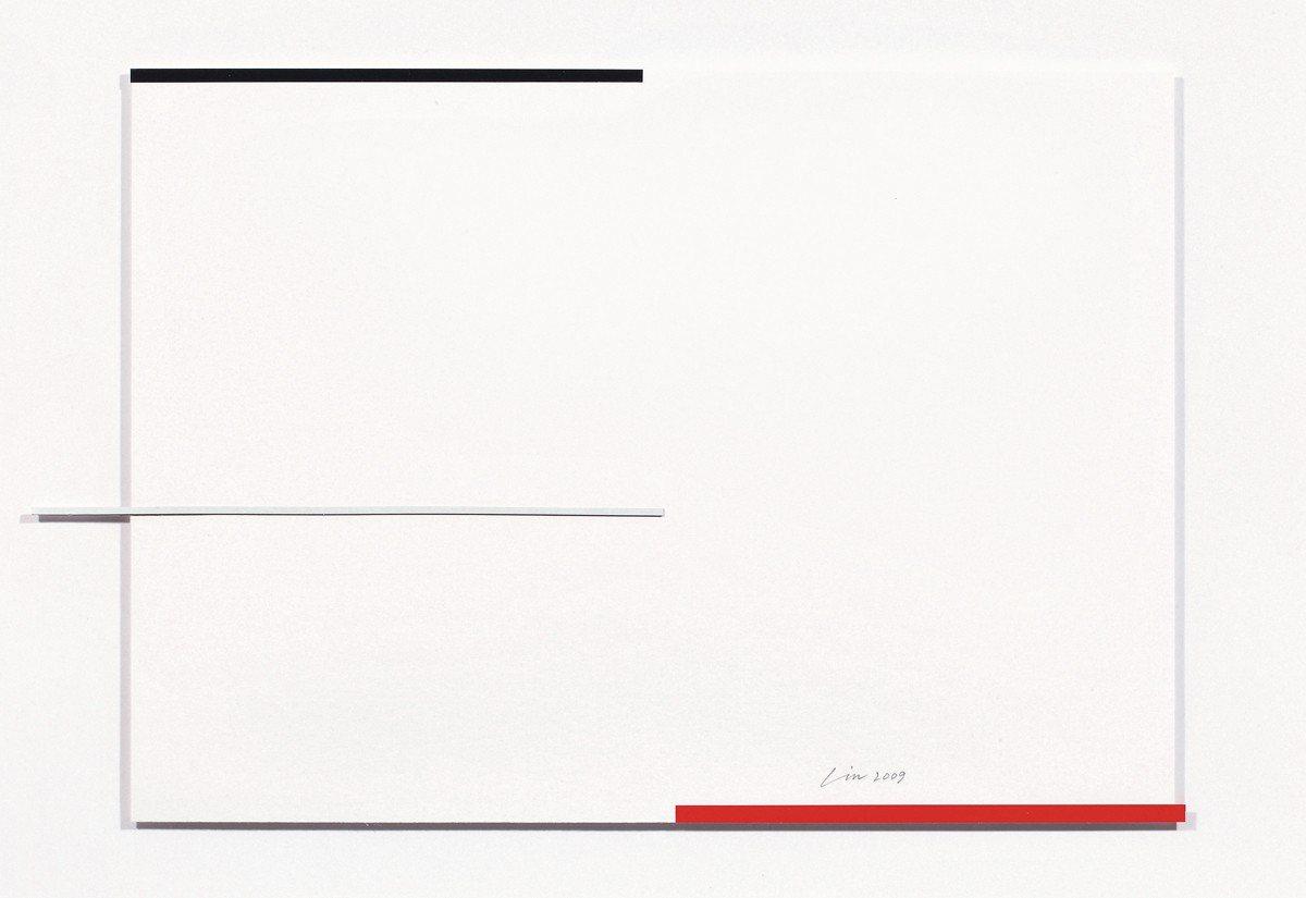林壽宇 〈無題II〉 綜合媒材紙本 二〇〇九年作 59 × 75 cm 估價 H...