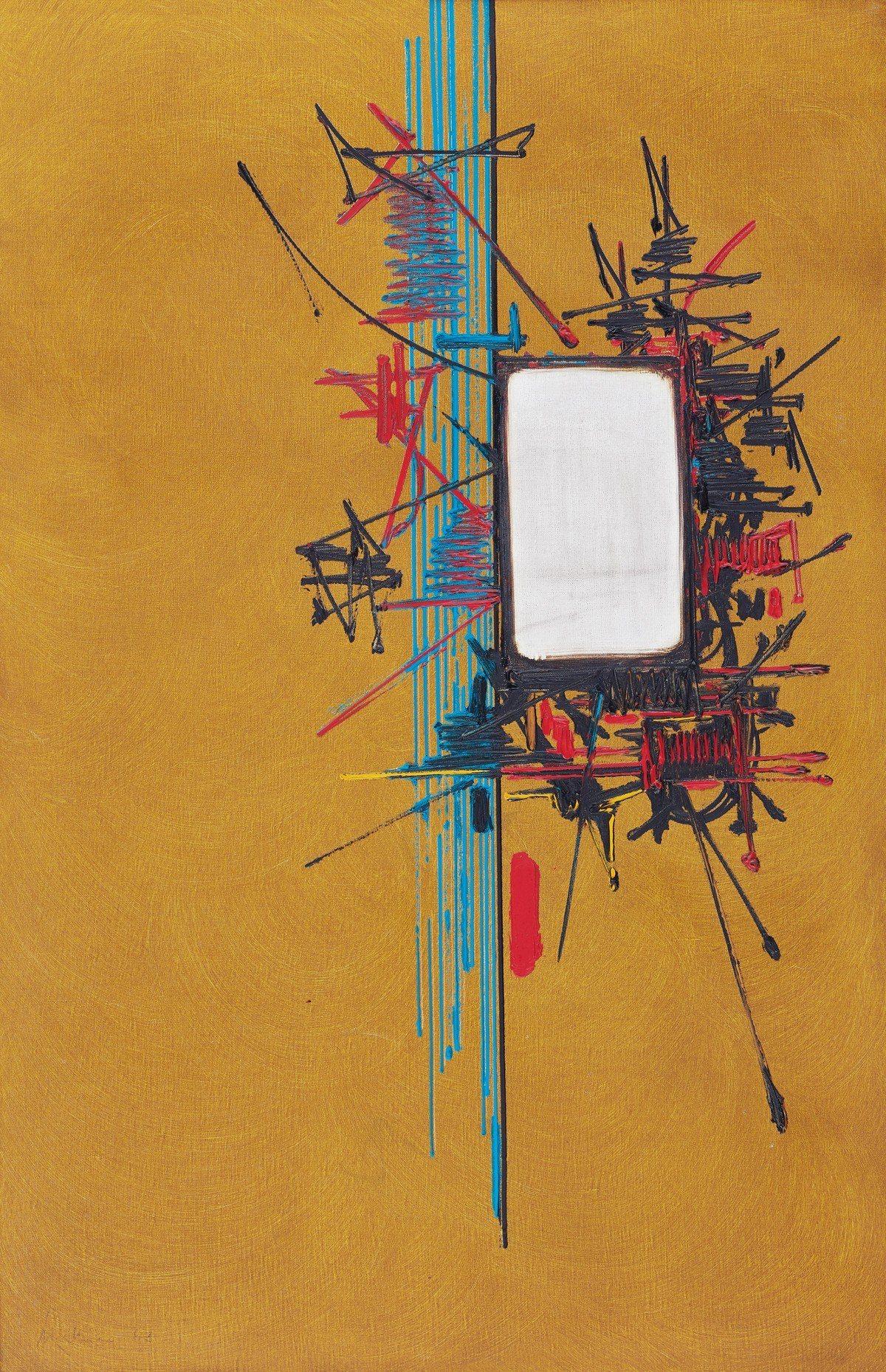 馬修 〈Argyropec〉 油彩畫布 一九六七年作 100 × 65 cm 估...