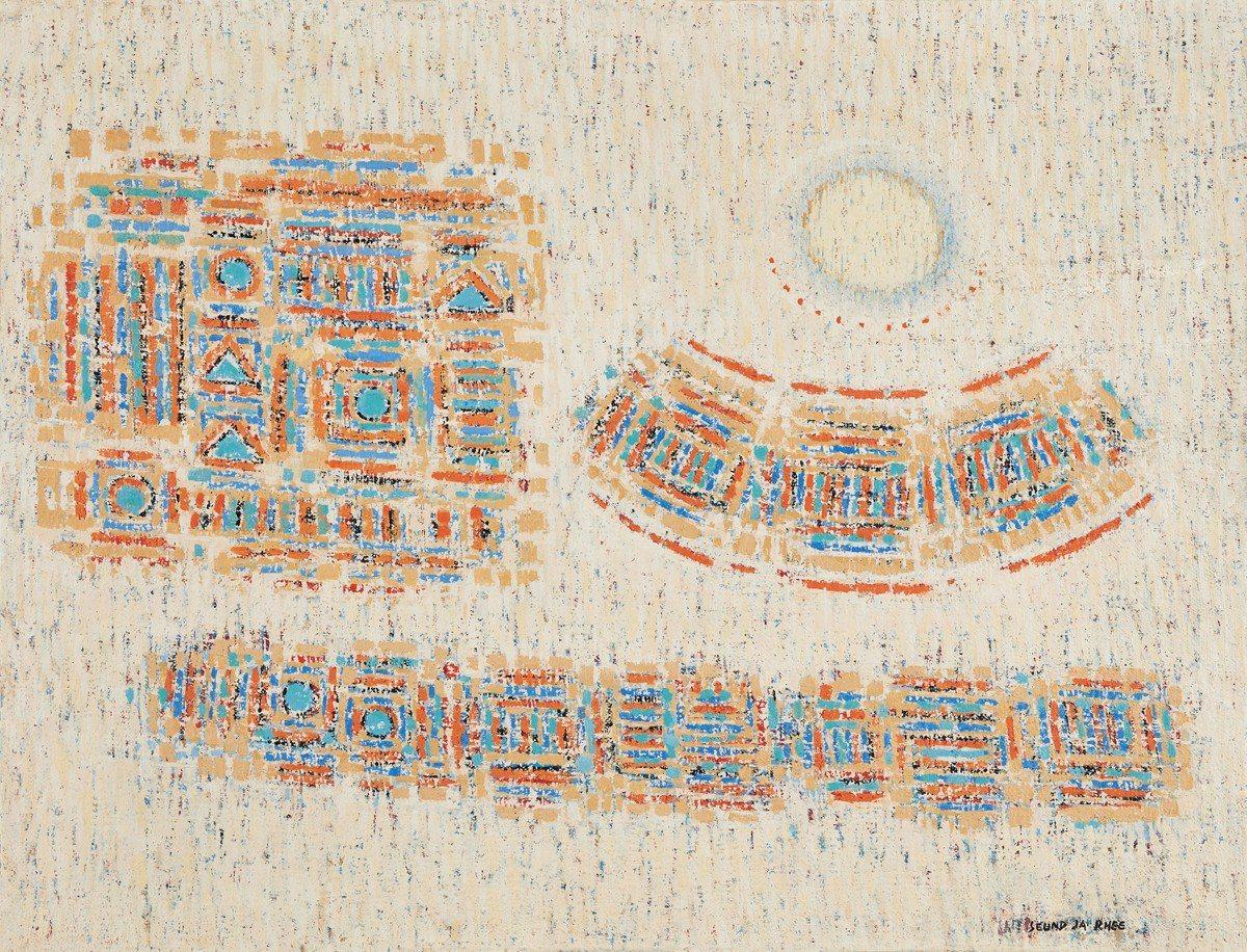 李聖子 〈1963年10月15日的月亮〉 油彩畫布 一九六三年作 50.3 × ...