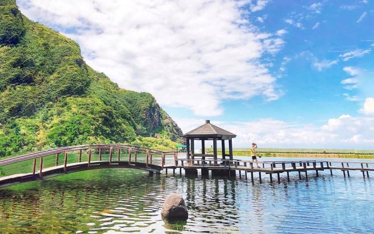 寧靜的龜尾湖和環湖步道是島上著名的清幽佳境/IG@ching_11.2