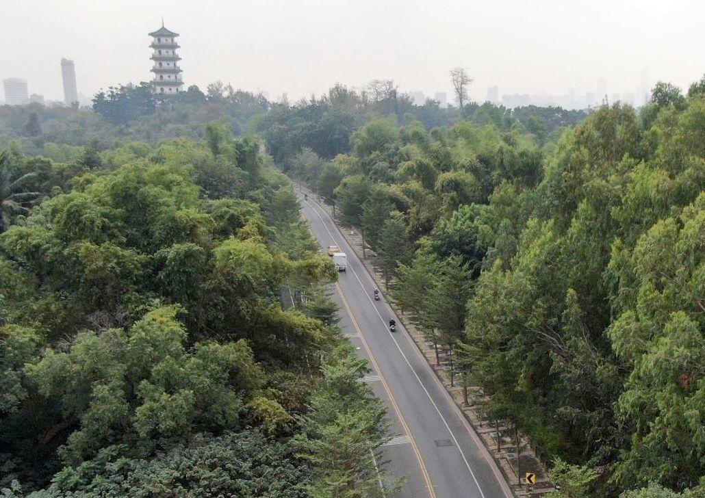 高雄市將在澄清湖風景區旁的鳥松區松藝路,設區間測速系統。記者林保光/翻攝