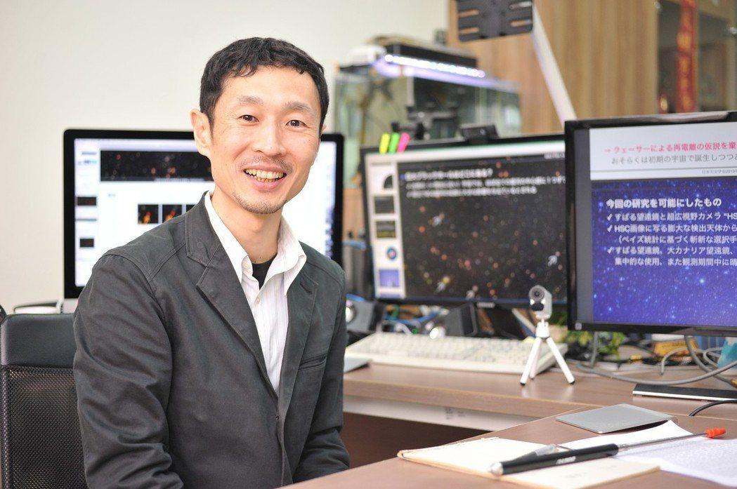 清華大學天文所副教授後藤友嗣攜手國際團隊,在超遠方宇宙發現百個超大質量黑洞。圖/...