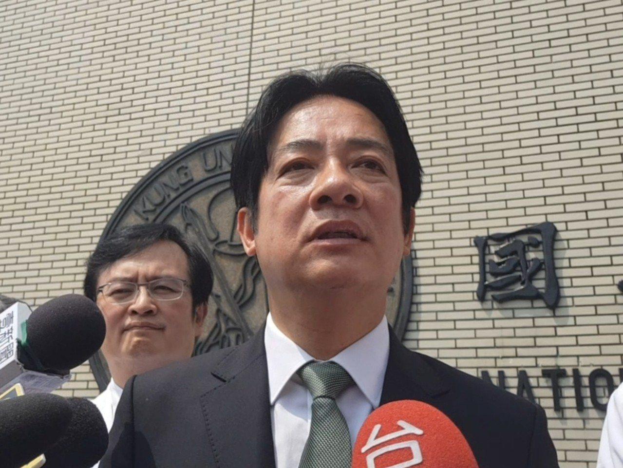 賴清德今天表示沒說過特赦阿扁是做人的道理。記者修瑞瑩/攝影