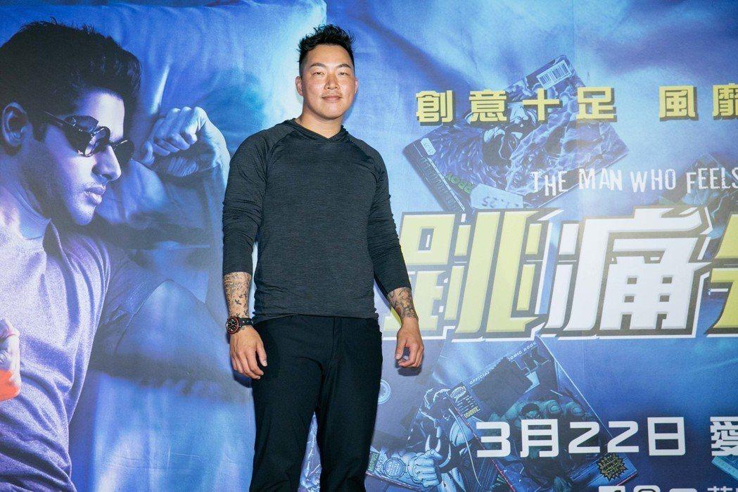郭泓志19日出席電影「跳痛先生」首映會。圖/華映提供