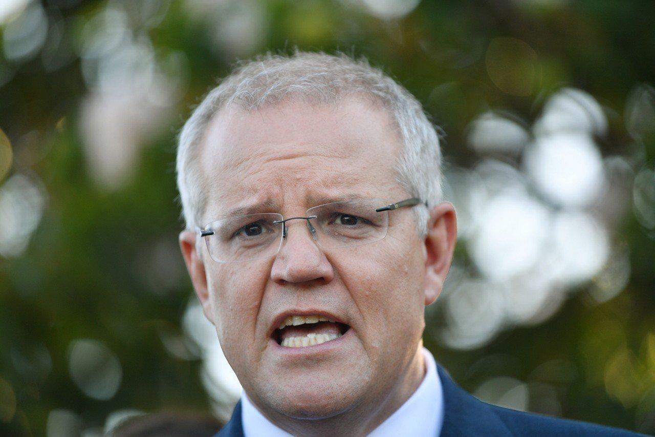 澳洲總理莫里森。歐新社