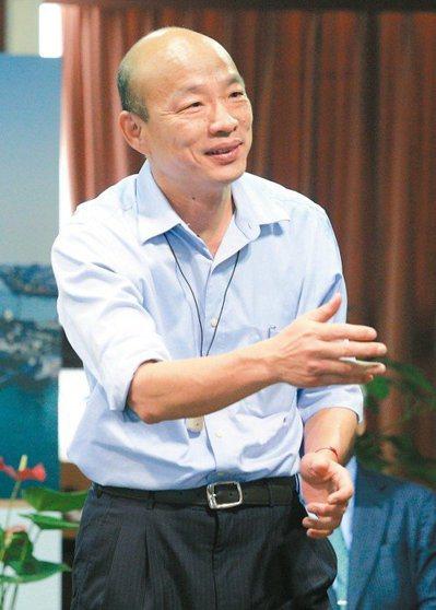 2020國民黨是否有可能韓朱配、韓王配?韓國瑜表示這是假設的議題,不存在。 聯合...