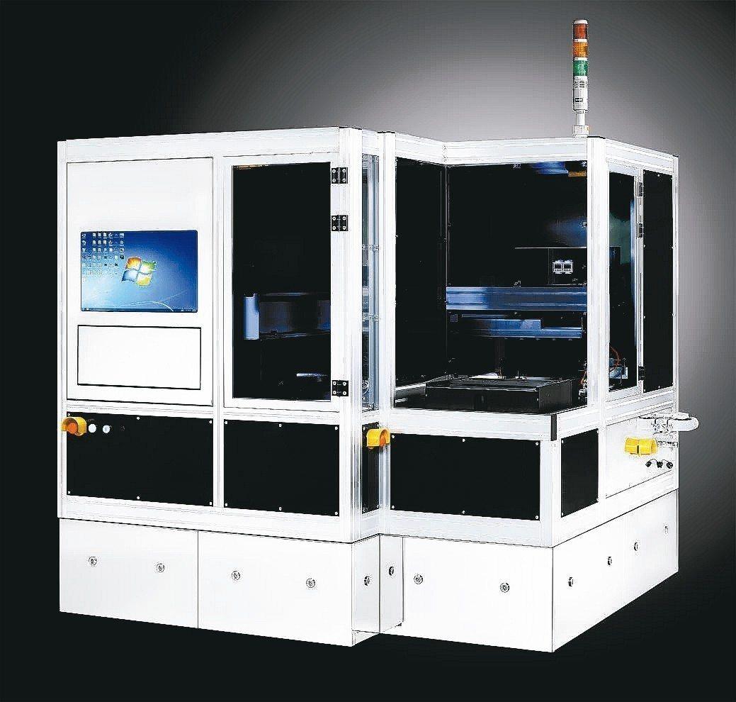 亞亞科技推出全自動隱崩機,用於高階封裝製程檢測。 亞亞科技/提供