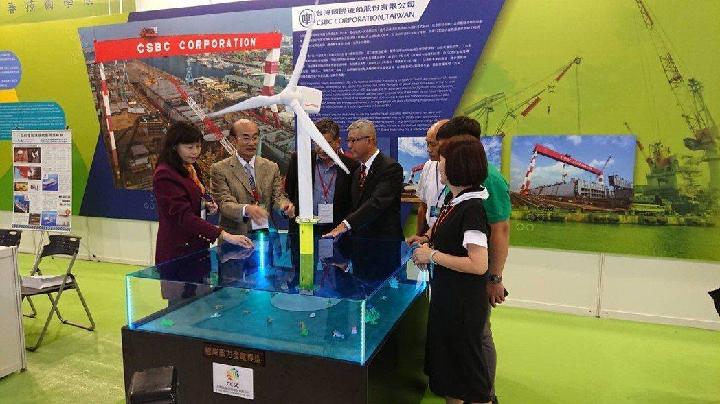 造艦及風電是台灣現行力推國家級規格產業,和春在國際離岸風電展中設置臨海館,展示現...