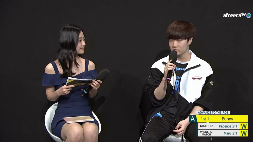 (左起)主持人Gyuri、Bunny 圖/截自afreecatv