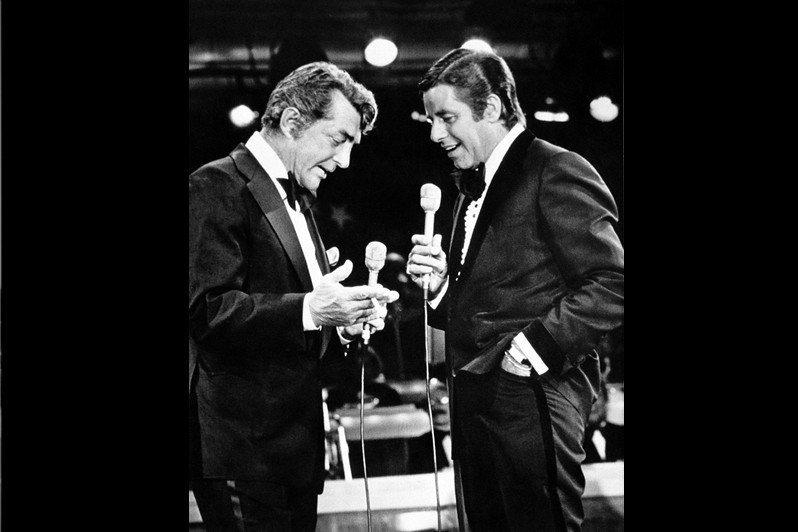 「馬丁路易」組合Dean Martin(左),Jerry Lewis(右),攝於...