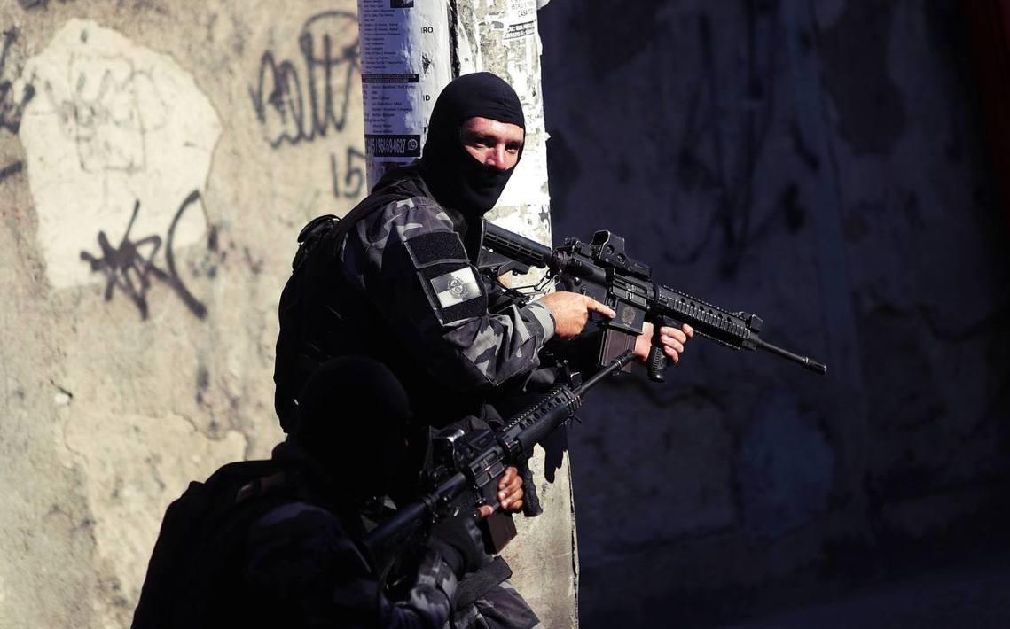 資料圖片,里約警方執法。 圖/路透社