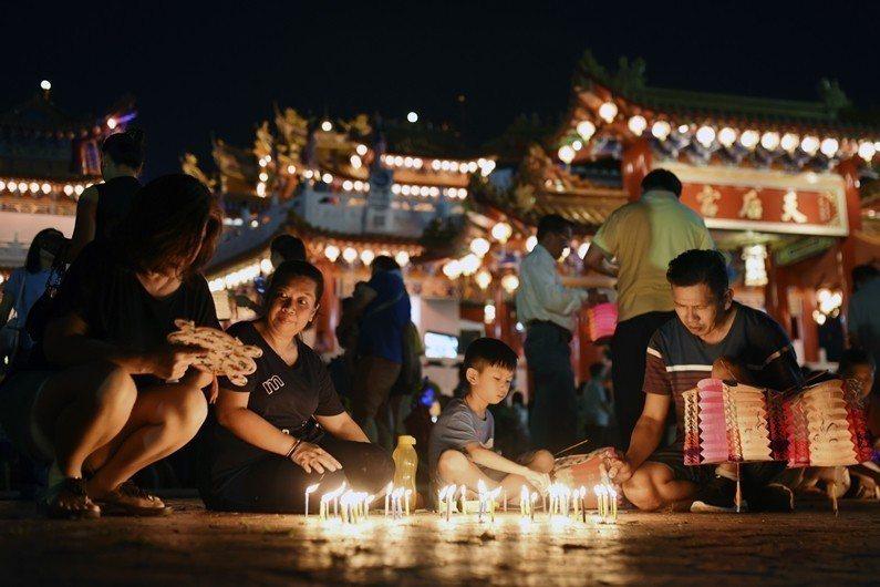 圖為馬來西亞華人慶祝中秋節。 圖/美聯社