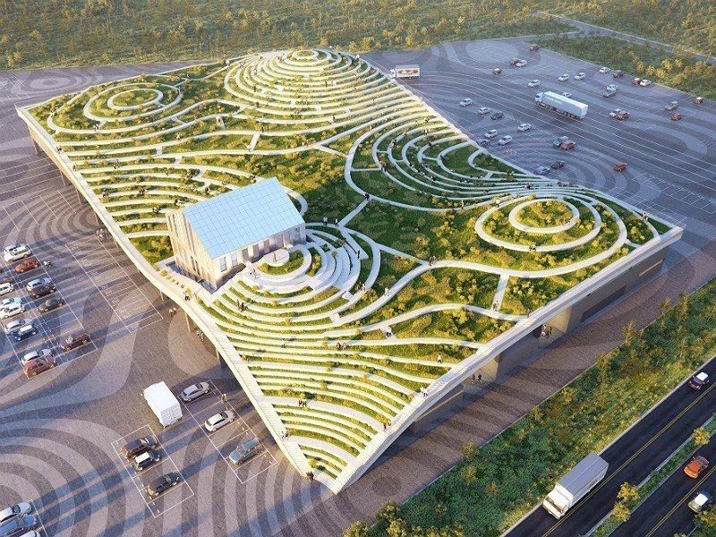 山丘梯田狀的奇幻建築!「台南新化果菜市場」超驚艷