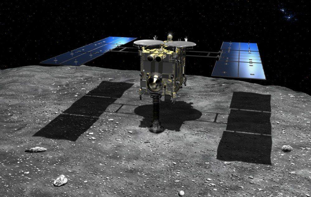 日本探測機「隼鳥2號」上個月成功完成登陸小行星「龍宮」。 圖/新華社