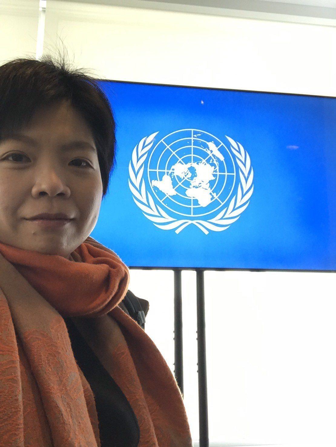 劉柏君今天在紐約獲頒國際奧會女性與體育獎,為第一個獲獎的台灣人。圖/劉柏君提供