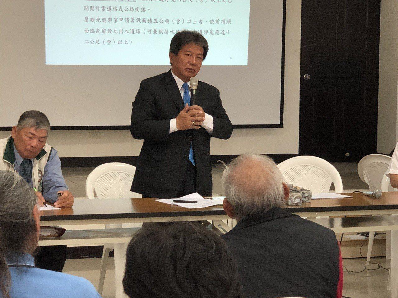 議長郭信良說,通過該細部計畫對台南四草的開發是項利多。記者邵心杰/攝影