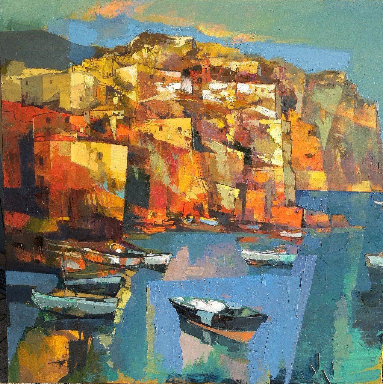 Alex Bertaina / Storia di mare 油畫 100x1...