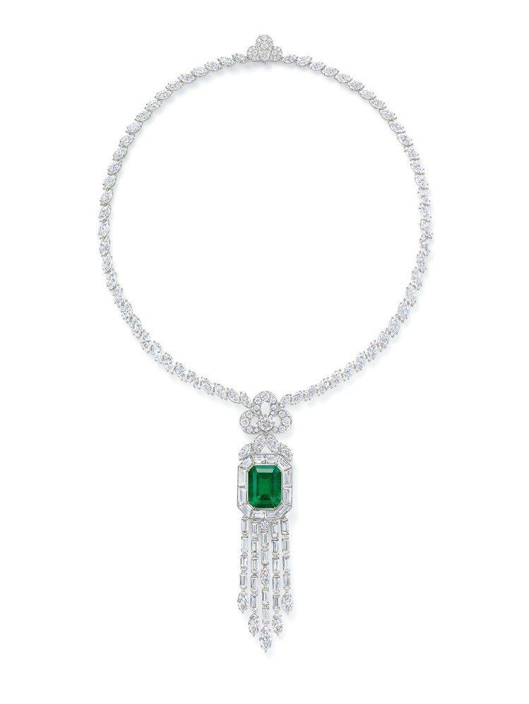 海瑞溫斯頓New York Collection 718 Emerald Vit...